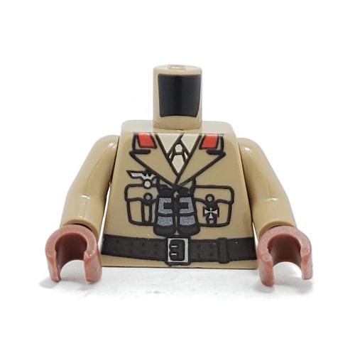 Custom Printed Minifigure Torso - Afrika Korps General Torso