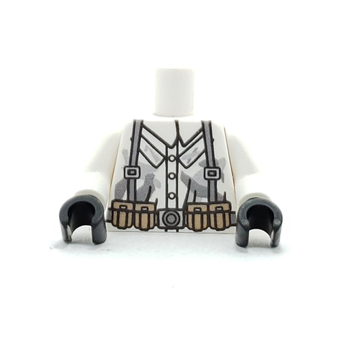 Custom Printed Minifigure Torso - German Winter Camo Torso