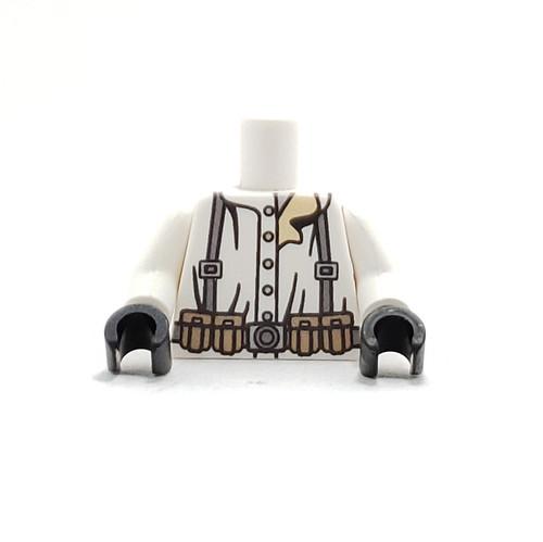 Custom Printed Minifigure Torso - German Snow Rifleman Torso