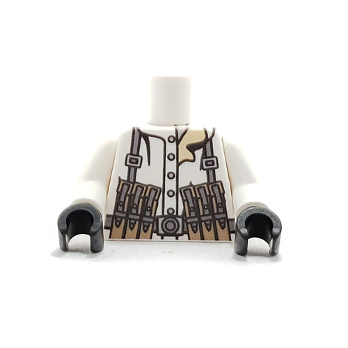 Custom Printed Minifigure Torso - German Snow Gunner Torso