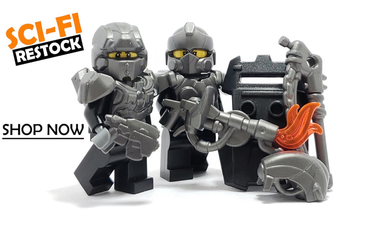 Lego Halloween Sets 2019.Brickwarriors Minifigure Guns Weapons Helmets Armor