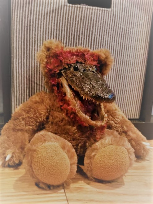 Taxidermy alligator  bear