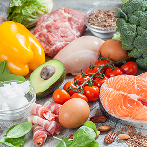 Picture of food that is recommended for a Keto Diet.