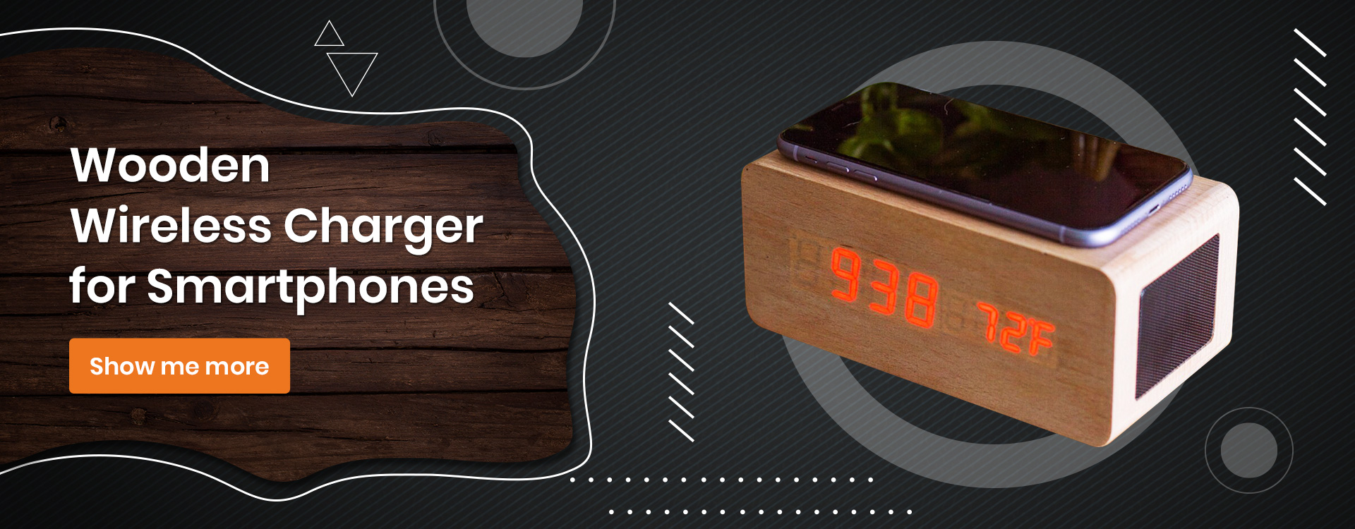 Wooden Wireless Charger for Smartphones