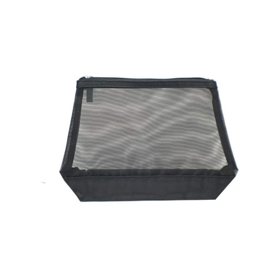 Black Mesh Cosmetic Bag