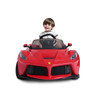 Red Ferrari La power battery car with LED wheels