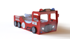 Fire Truck Bed ECO Materials Durable Wooden Frame Slabs Red