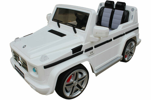 Mercedes g55 white ride on car for kids