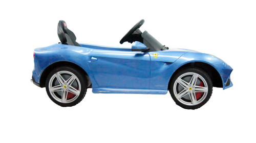 Ferrari f12 blue power battery car with LED wheels