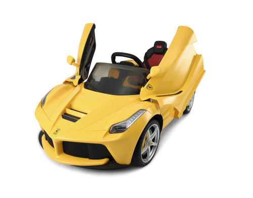 LaFerrari Yellow power battery car with LED wheels
