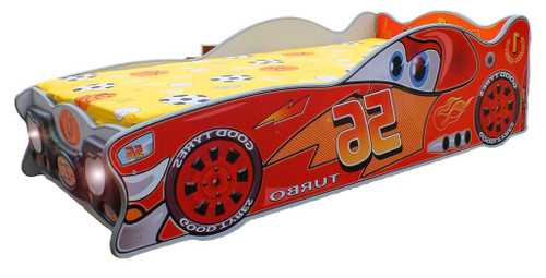 Zigzag Lucky Racer Car Bed | RED