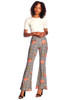 Women's Plaid Floral Bell Bottom Pant