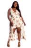 Plus Size Clubwear Woven Maxi Romper