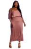 Cheap Plus Off The Shoulder Midi Dress