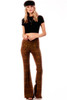 Women's Plaid Wide Leg Fit and Flare Pant