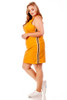 Trendy Plus Woven Sport Stripe Tank Dress