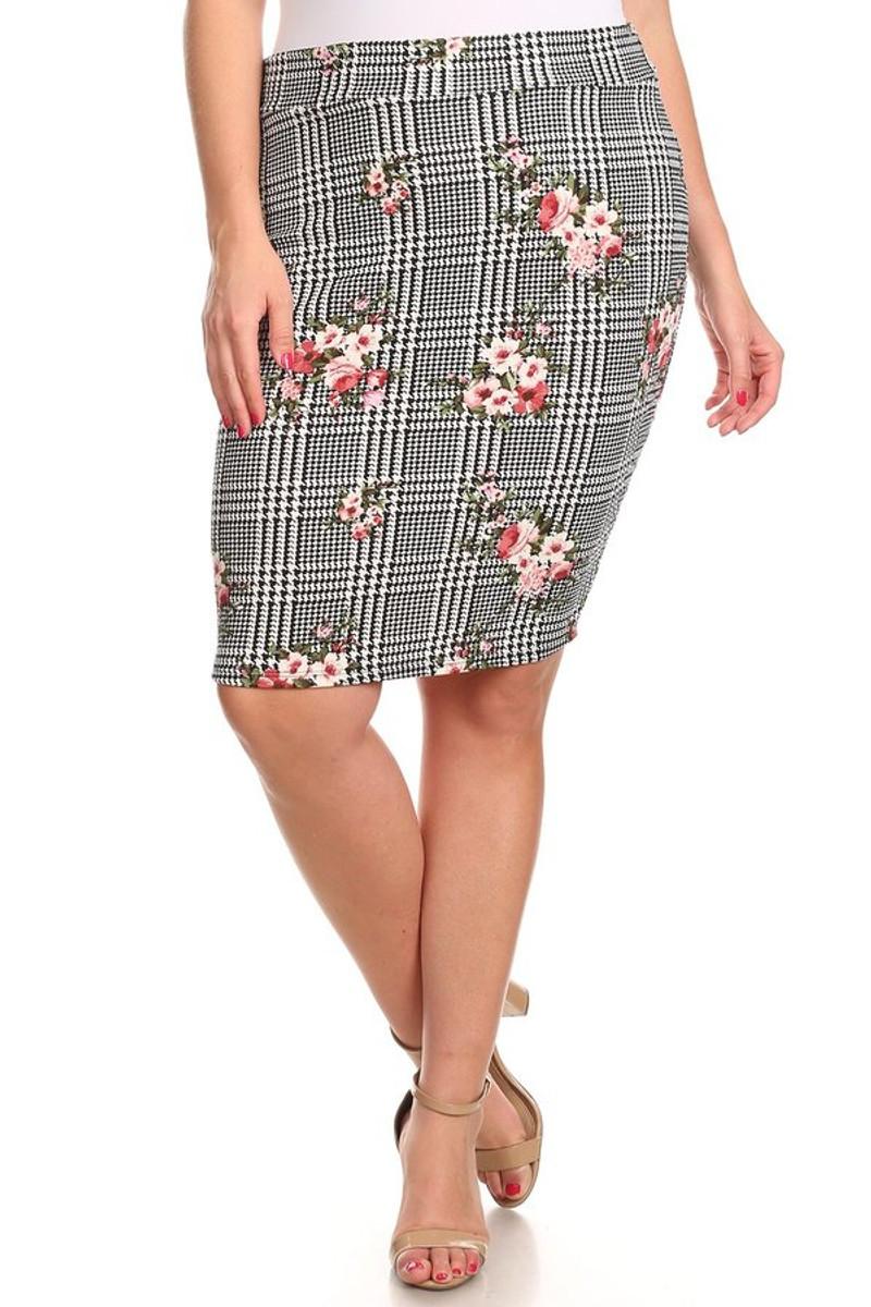 285f8564f Plus Pencil Skirt - VIBE Apparel Co.