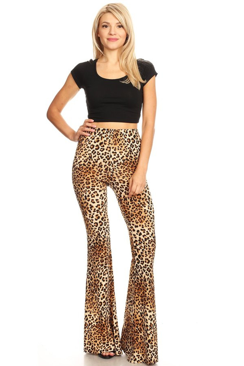 4abbb3741a Animal Print Wide Leg Flare Pant - VIBE Apparel Co.