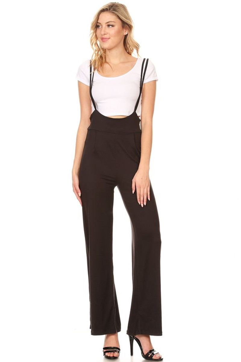 19f39ad3121 Brushed Overall Romper - VIBE Apparel Co.