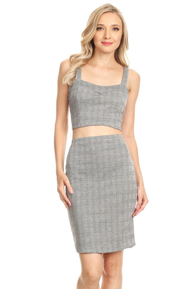 490cfed51e Bustier Crop Top Co Ord Set - VIBE Apparel Co.