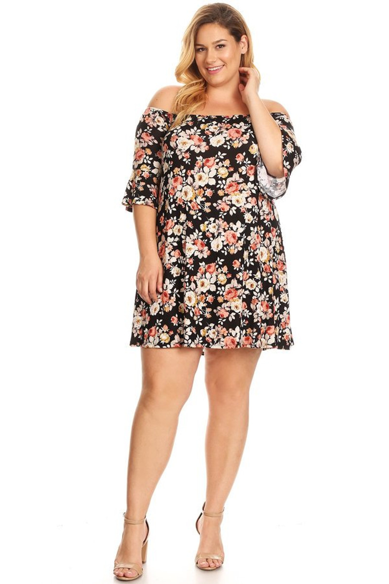 fb37a45cd7d57 Plus Bell Sleeve Dress - VIBE Apparel Co.