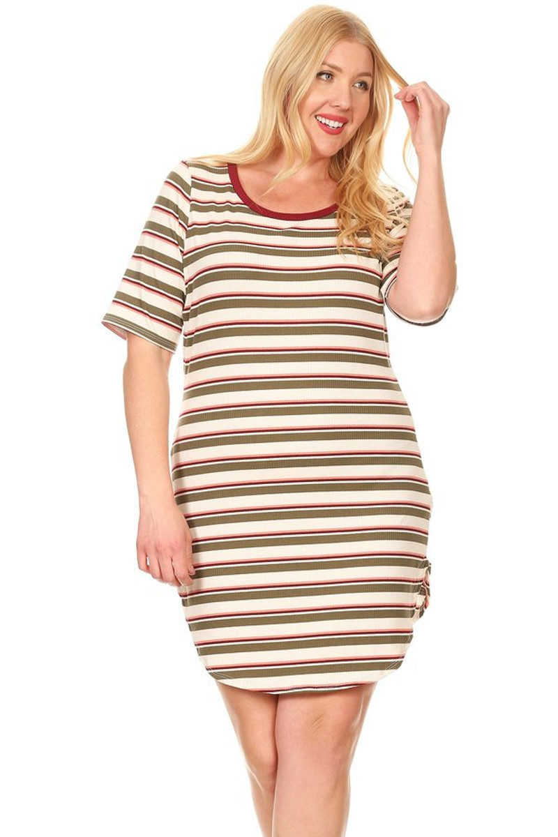a8bfaff3dbc2f Plus Ribbed Tee Dress - VIBE Apparel Co.