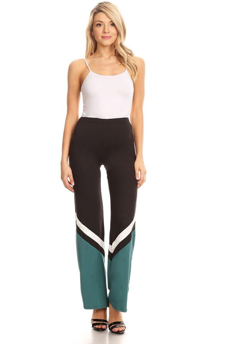 Women's Sports Stripe Flare Pants