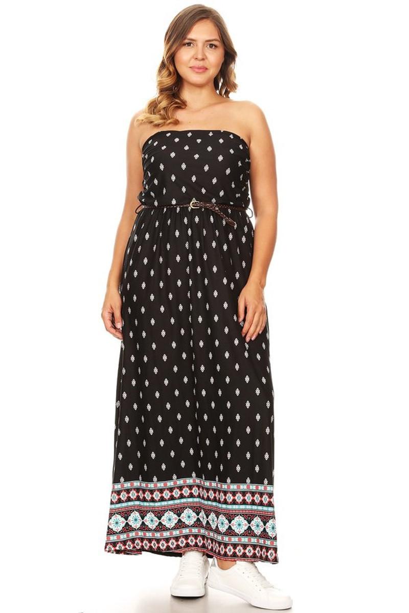 Plus Size Bohemian Inspired Maxi Dress