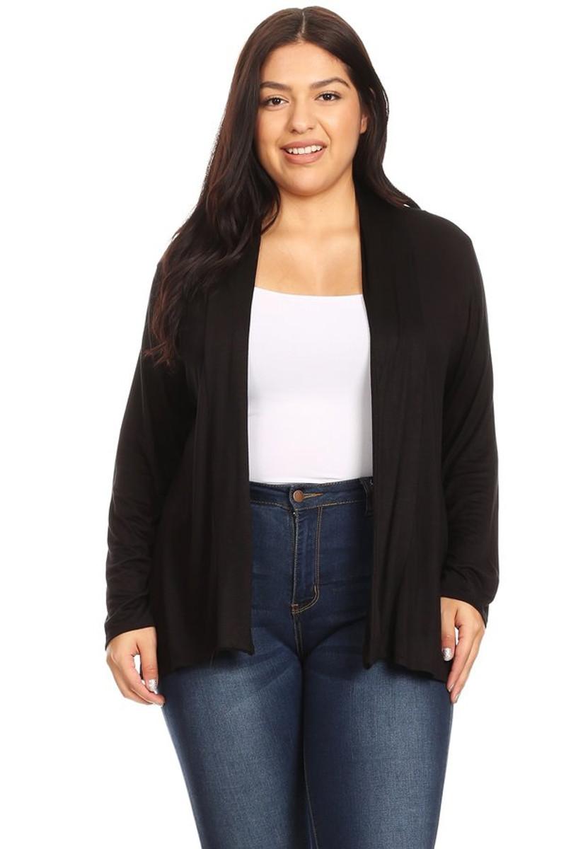 Women's Plus Size Soft Knit Cardigan Top