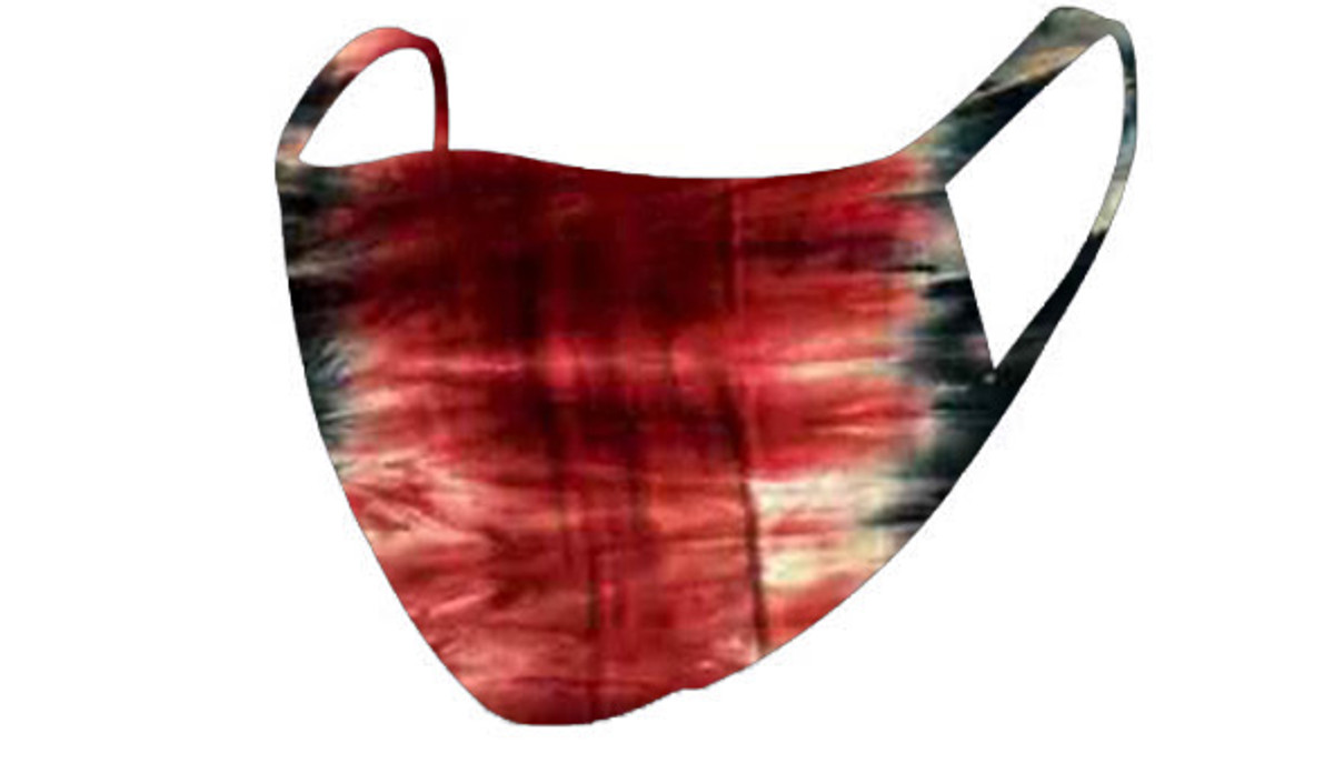 2 Layer Reusable Mask-Red Tie Dye