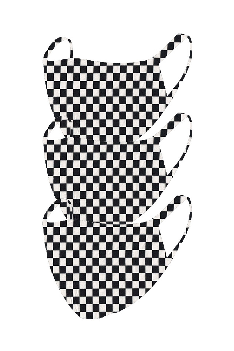 2 Layer Reusable Mask-Checkered (3 Pack)