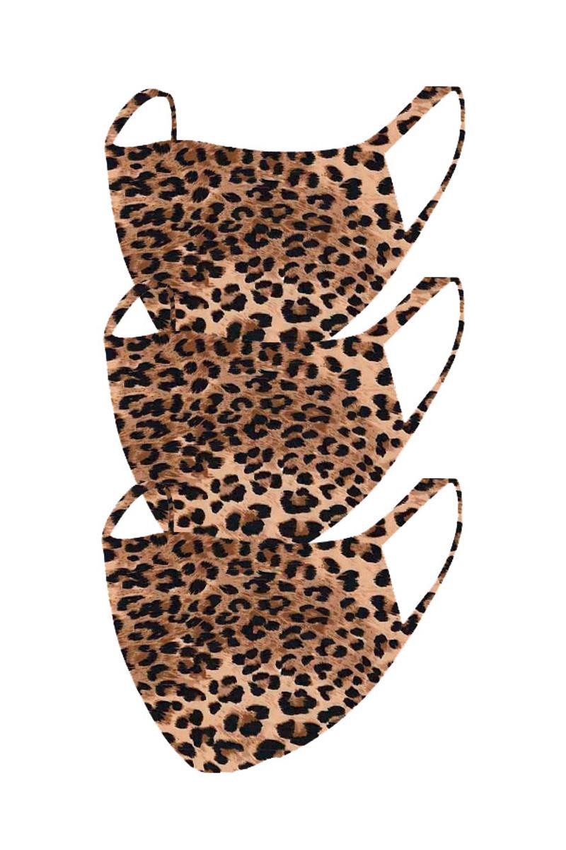 2 Layer Reusable Mask-Cheetah (3 Pack)