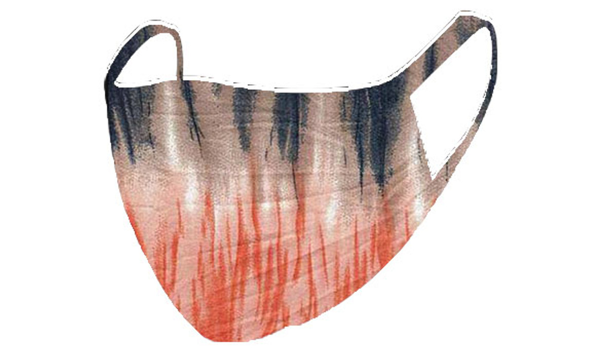 2 Layer Reusable Mask- Tie Dye (Navy Orange)
