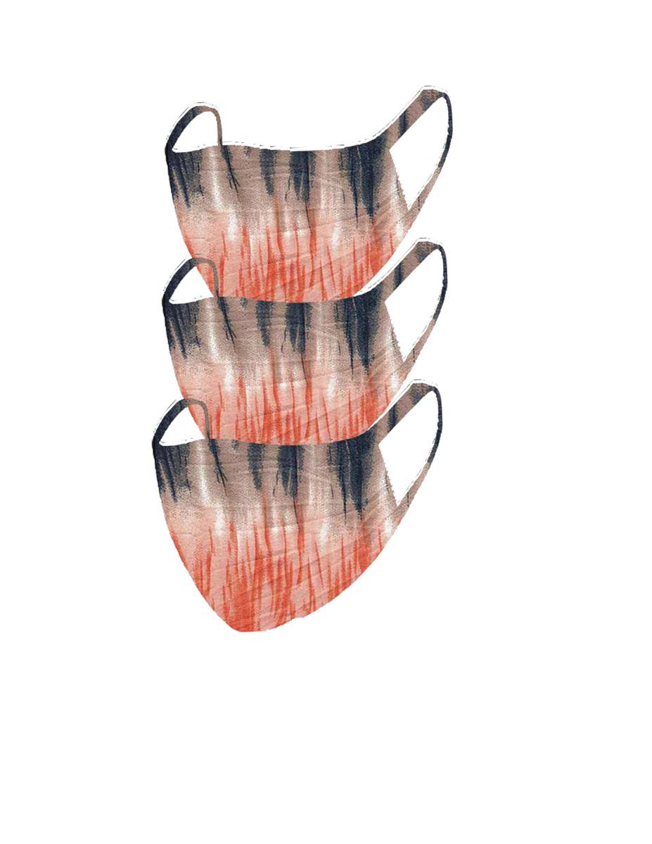 2 Layer Reusable Mask-Navy Orange Tie Dye (3 Pack)