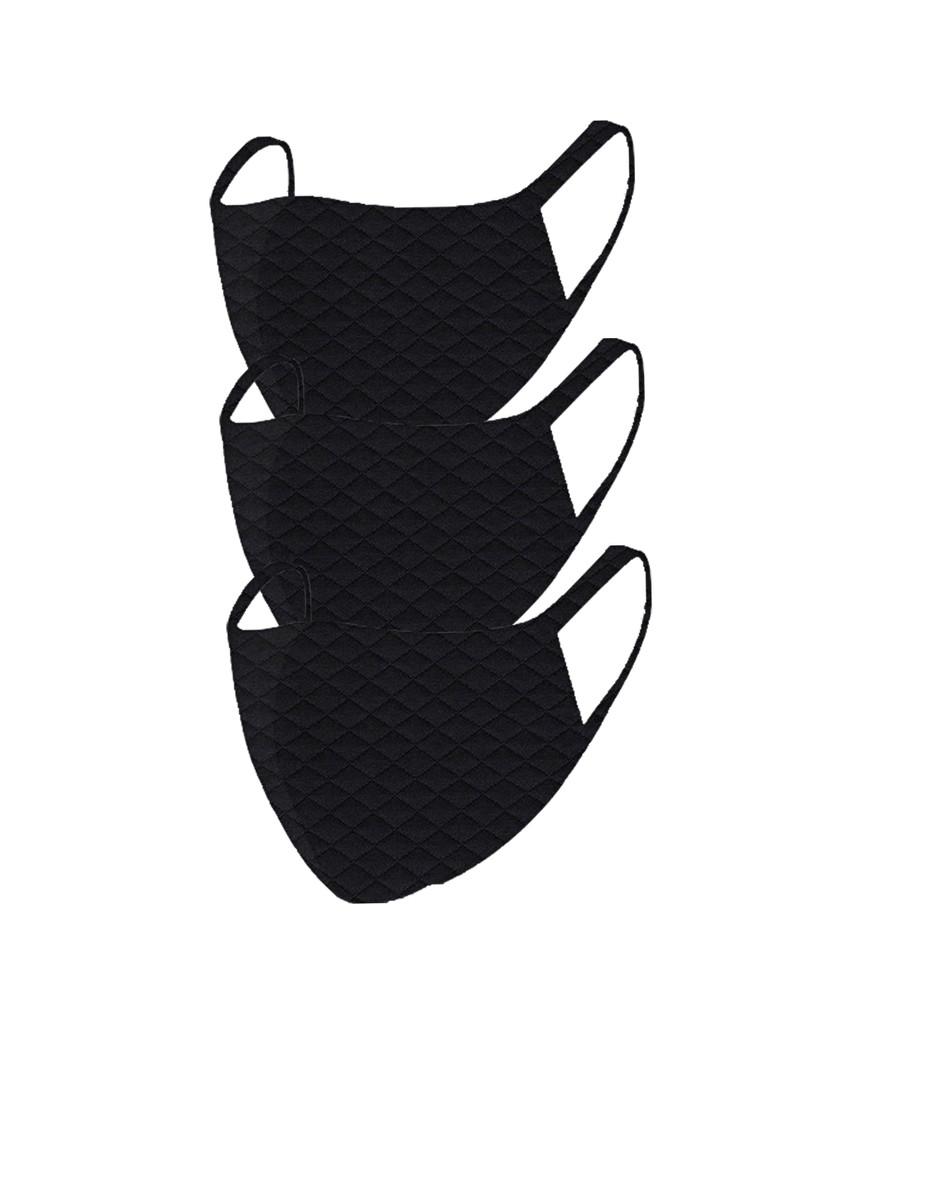 2 Layer Reusable Mask- Black Quilt(3 Pack)