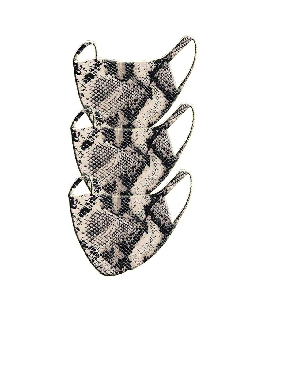 2 Layer Reusable Mask- Snake (3 Pack)