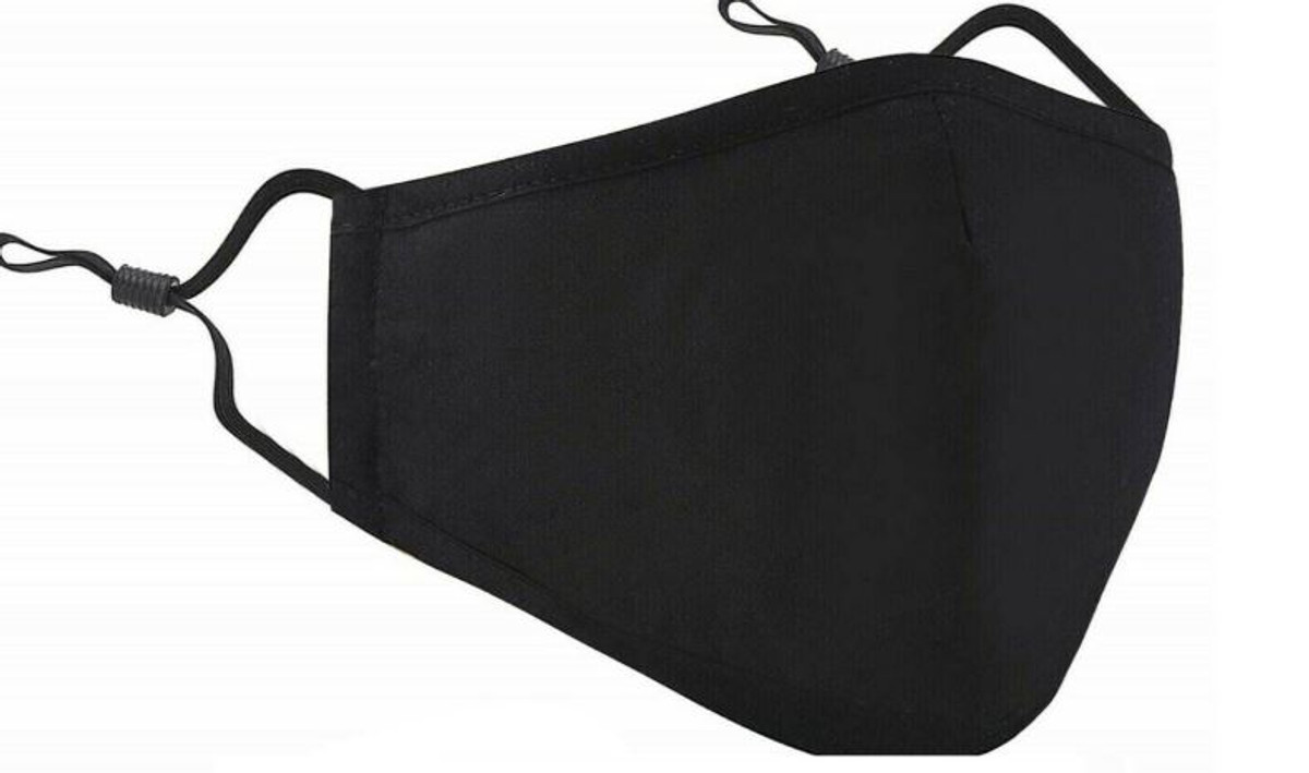 Cotton Face Mask with Adjustable Earloops and Filter Pocket (3 Pack)