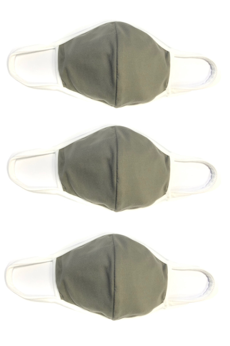 2 Layer Reusable Mask- Sage White (3 Pack)