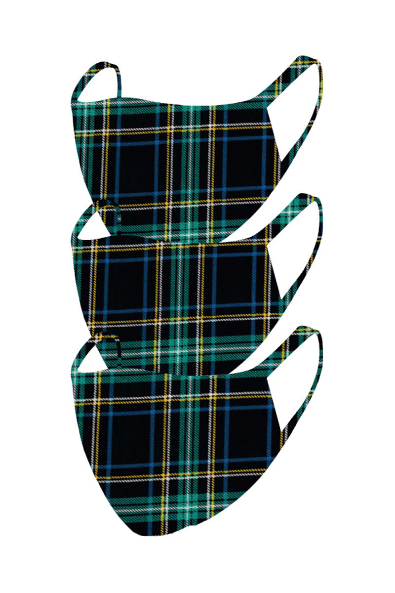 2 Layer Reusable Mask- Plaid (3 Pack)
