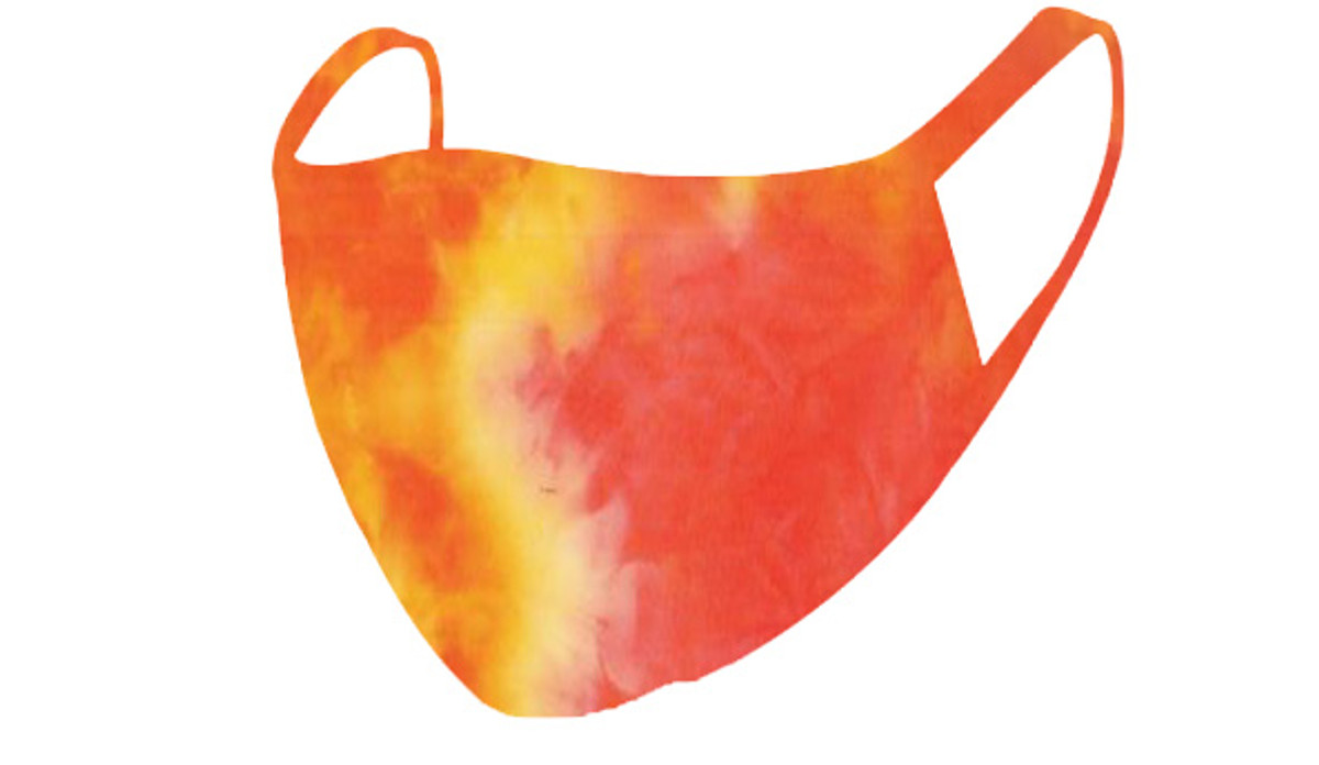 2 Layer Reusable Mask-Orange Yellow Summer Tie Dye
