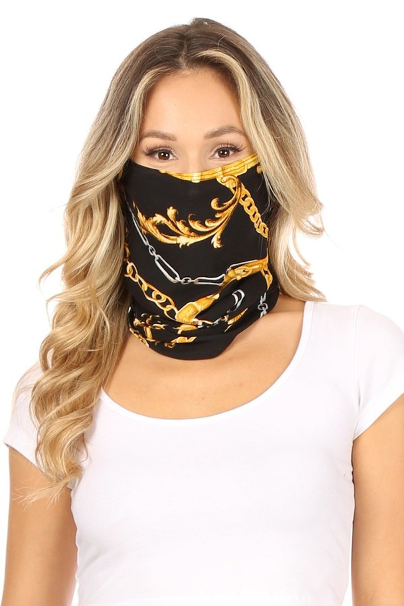 Fashion Neck Gaiter and Face Covering - Versace