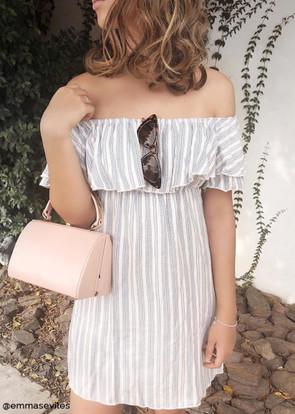 Woven Off Shoulder Dress