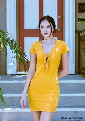 Tie Front Bodycon Mini Dress
