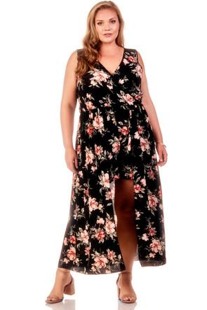 Plus Size Woven Maxi Floral Romper
