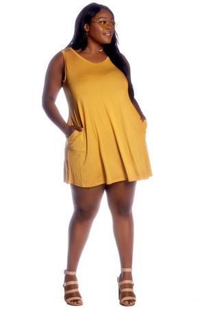 Plus Soft Knit Pocket Swing Dress