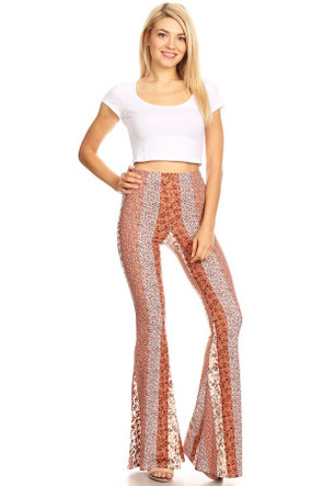 Women's Aztec Wide Leg Fit and Flare Pant