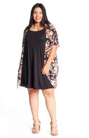 Plus Summer Chiffon Kimono & Dress Set
