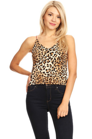 Animal Print Spaghetti Strap Top
