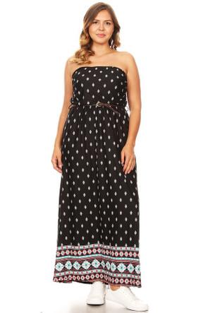 Plus Bohemian Inspired Maxi Dress