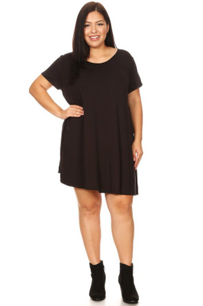 Cheap Plus VIBE Swing Dress
